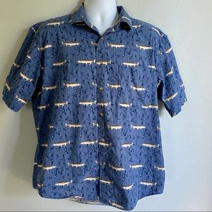 Natural Issue Cotton Button Down Fishing Shirt
